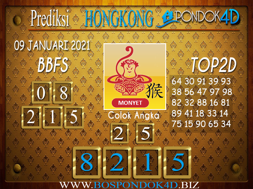 Prediksi Togel HONGKONG PONDOK4D 09 JANUARI 2021