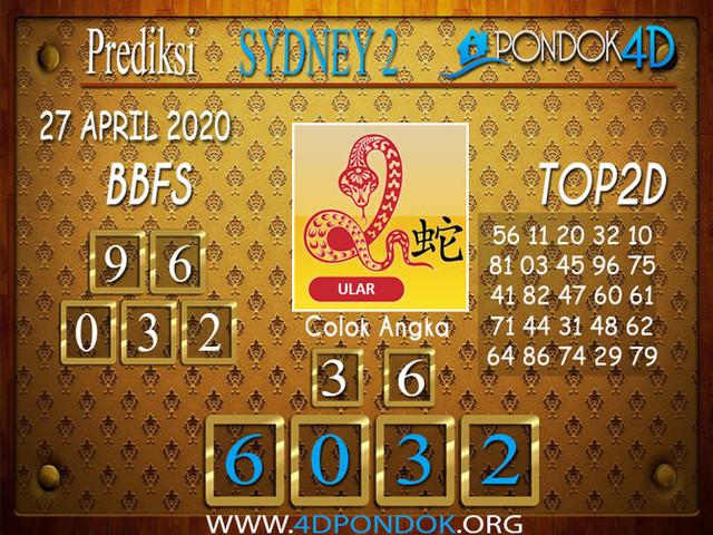 Prediksi Togel SYDNEY 2 PONDOK4D 27 APRIL 2020