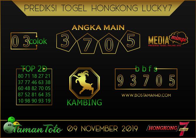 Prediksi Togel HONGKONG LUCKY 7 TAMAN TOTO 09 NOVEMBER 2019