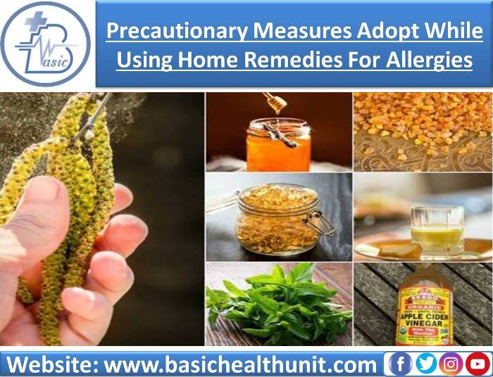 Precautionary Measures Adopt While Using Home Remedies For Allergies