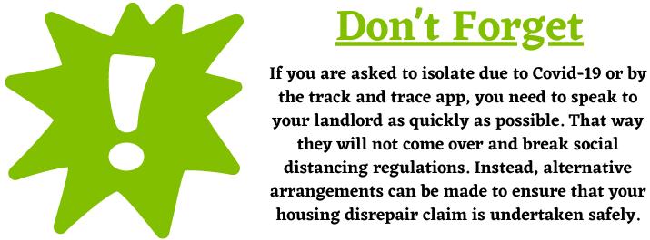Isolation during a Housing Disrepair Claim