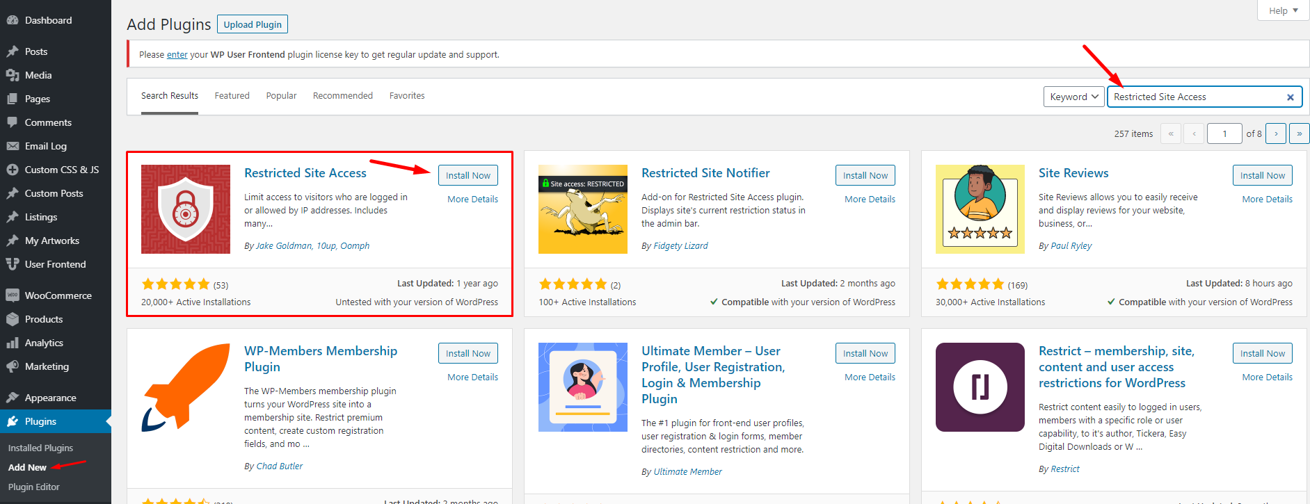 How to restrict the entire WordPress site by excluding a few essential pages 2