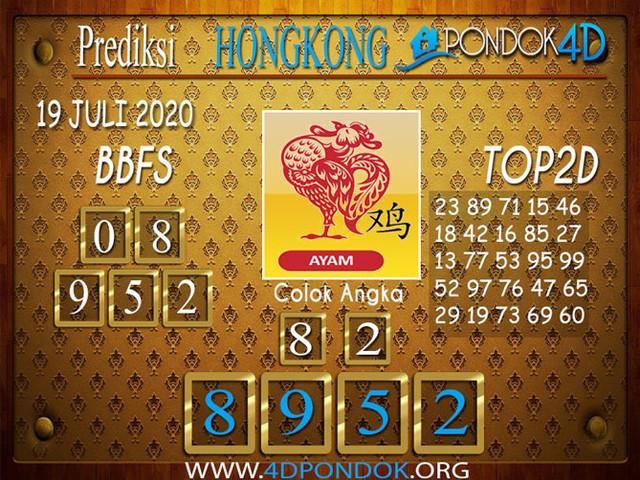 Prediksi Togel HONGKONG PONDOK4D 19 JULI 2020