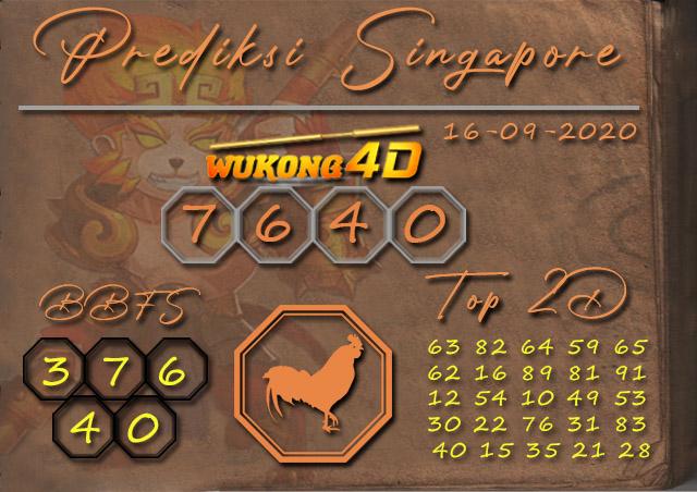Prediksi Togel SINGAPORE WUKONG4D 16 SEPTEMBER 2020