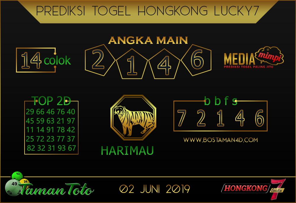 Prediksi Togel HONGKONG LUCKY 7 TAMAN TOTO 02 JUNI 2019