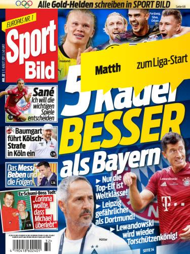 Cover: Sport Bild Magazin No 32 vom 11  August 2021