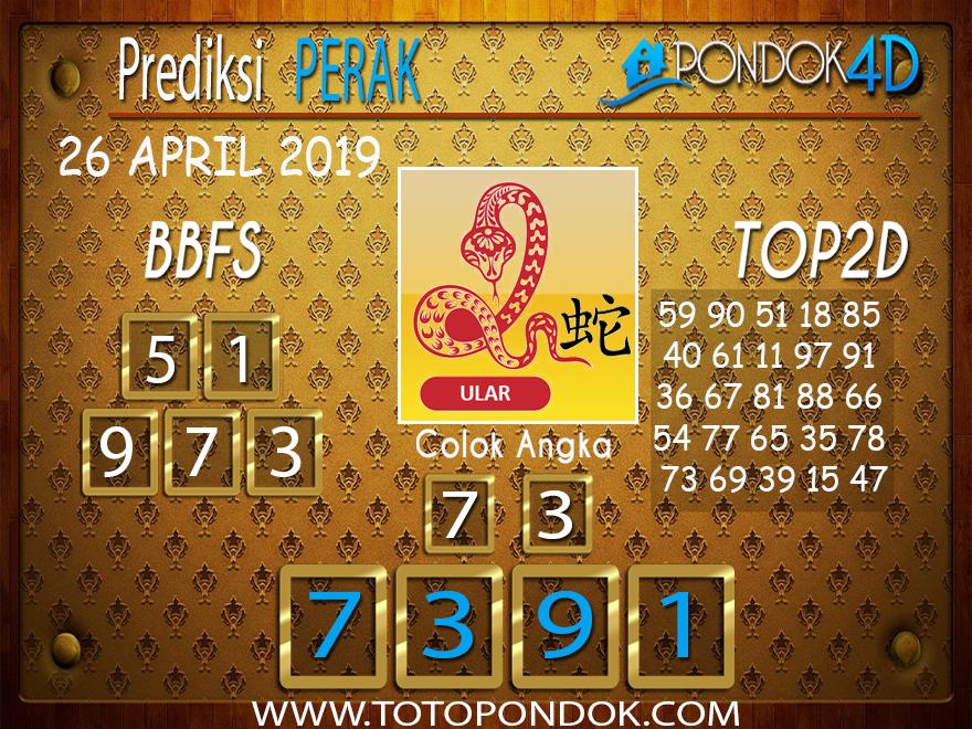 Prediksi Togel PERAK PONDOK4D 26 APRIL 2019