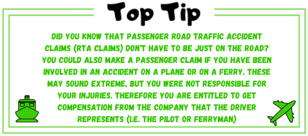 airplane and ferry claims