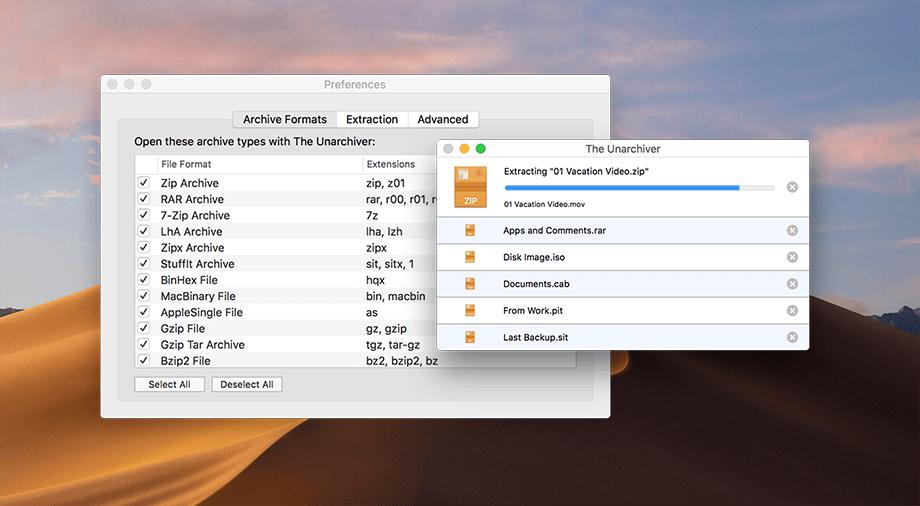 Esta alternativa gratis a WinRAR está diseñada para Mac OS.