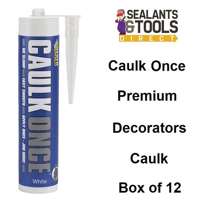 Everbuild Decorators Caulk Once White CLKONCEWE3 Box of 12