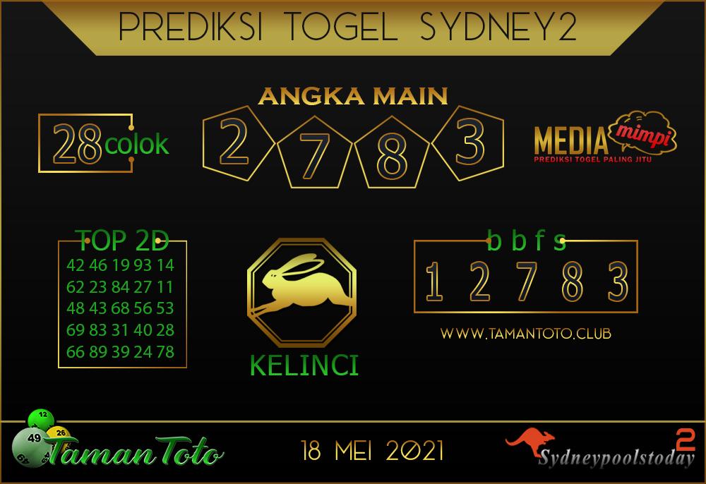 Prediksi Togel SYDNEY 2 TAMAN TOTO 18 MEI 2021