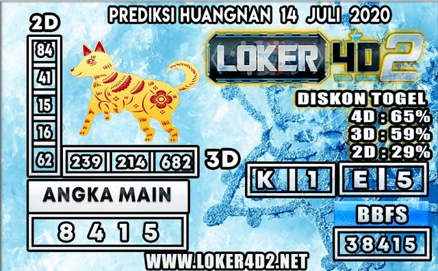 PREDIKSI TOGEL HUANGNAN LOKER4D2 14 JULI 2020