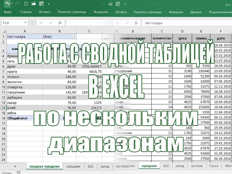 Сводные таблицы в Excel для чайников и не только. Третья часть.