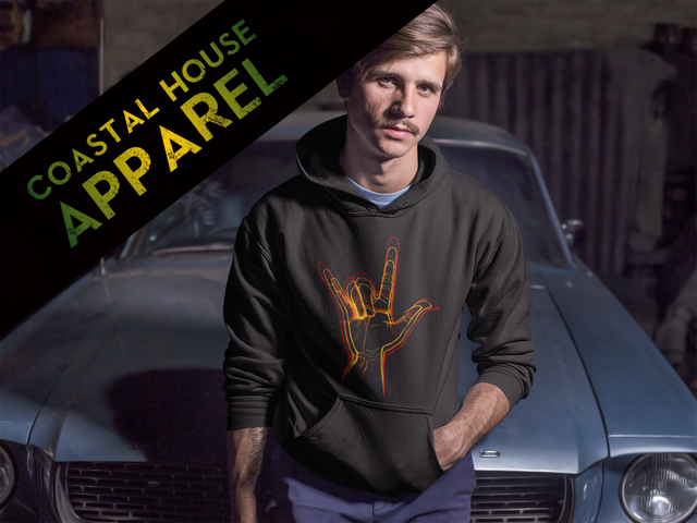 serious-young-man-wearing-a-pullover-hoodie-while-sitting-against-a-vintage-mustang-mockup-a13615-2