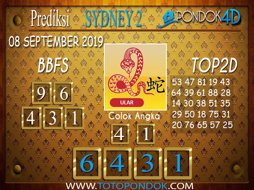 Prediksi Togel SYDNEY 2 PONDOK4D 08 SEPTEMBER 2019