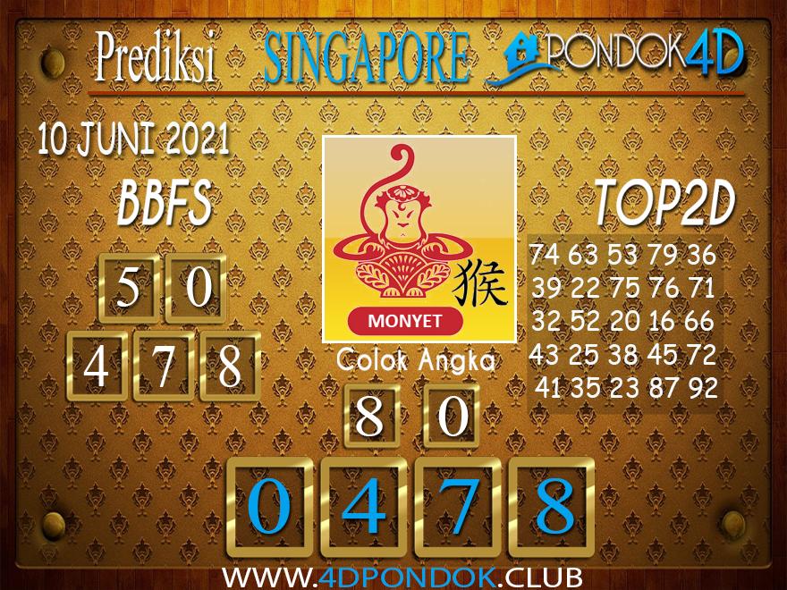 Prediksi Togel SINGAPORE PONDOK4D 10 JUNI 2021