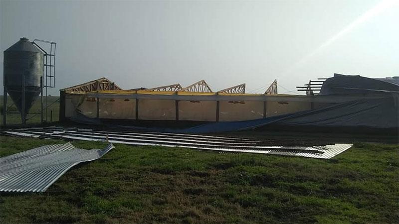 Fuertes tormentas y ràfagas de viento provocaron destrozos en varias localidades entrerrianas