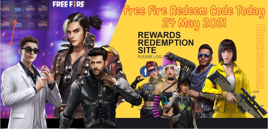 Free Fire Redeem Code 24 May 2021 Ff Free Fire Redeem Code Today Indian Server