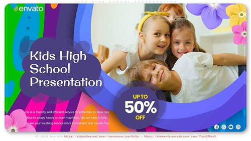 Kids High School Presentation 33482184 - Project for After Effects (Videohive)