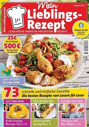 Cover: Mein Lieblingsrezept Magazin No 08 August 2021