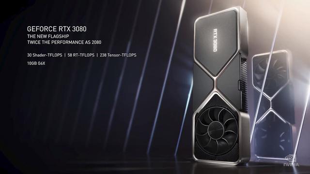 英偉達新一代顯卡正式發表,GeForce RTX 3080 售價699美元起,9月17日推出。 Image