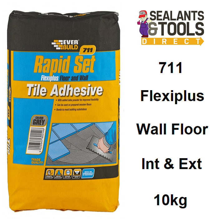 Everbuild 711 Rapid Set FlexiPlus Tile Adhesive 10Kg RSPLUS10