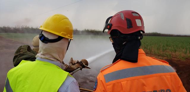 Simulados demonstram na prática técnicas de prevenção e combate a incêndios em canaviais - SENAR MINAS