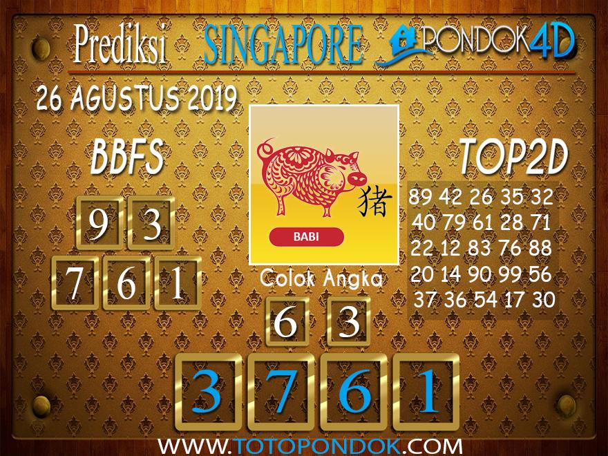 Prediksi Togel SINGAPORE PONDOK4D 26 AGUSTUS 2019