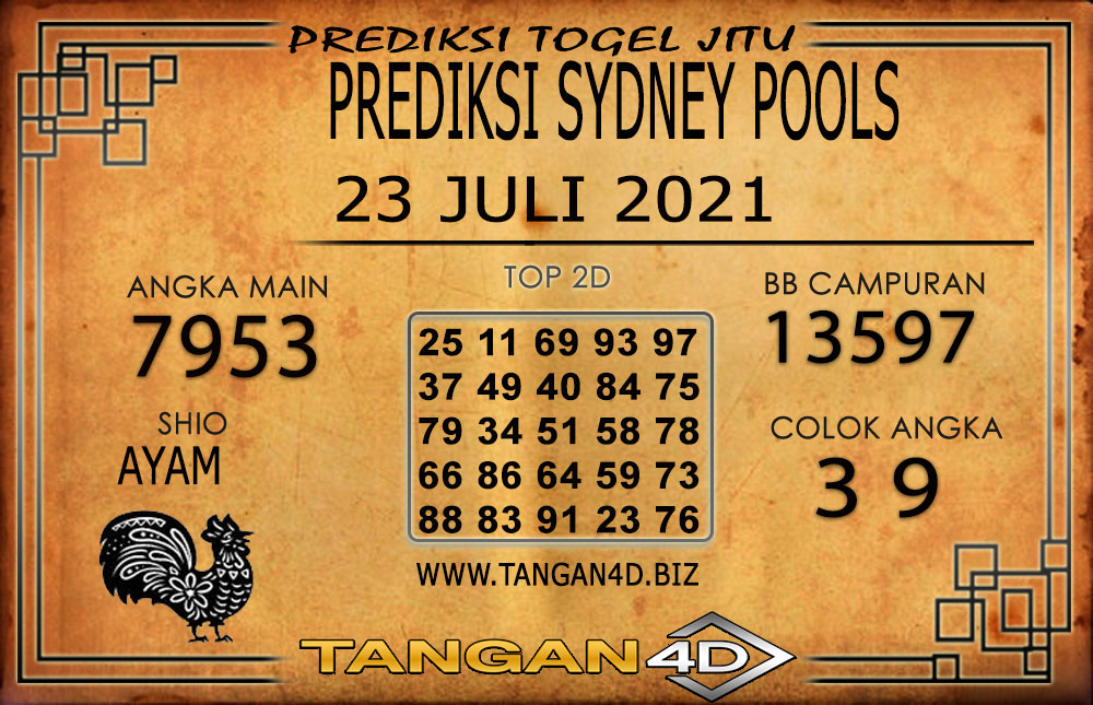 PREDIKSI TOGEL SYDNEY TANGAN4D 23 JULI 2021