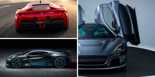 4 of the fastest hypercars in the world