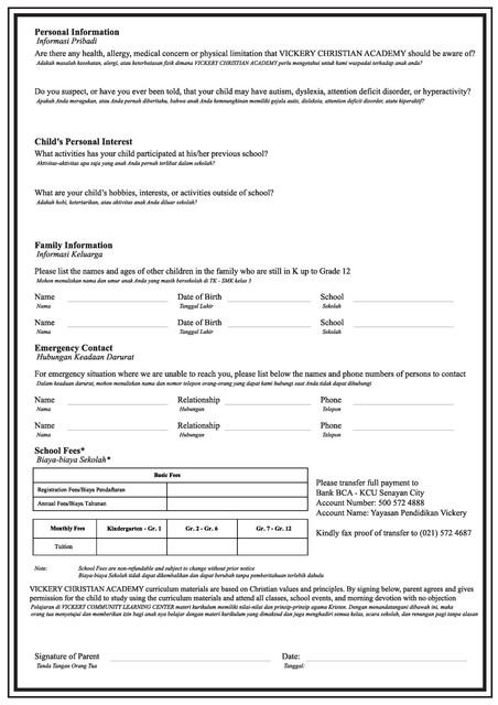 Student Registration Form b