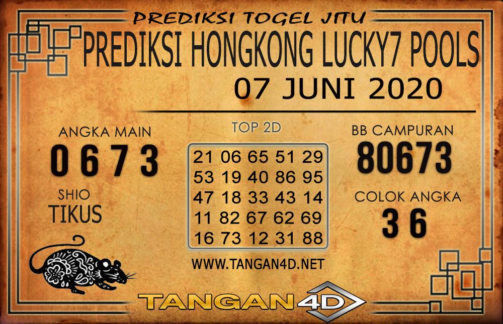 PREDIKSI TOGEL HONGKONG LUCKY 7 TANGAN4D 07 JUNI 2020