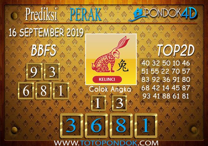 Prediksi Togel PERAK POOLS PONDOK4D 16 SEPTEMBER 2019