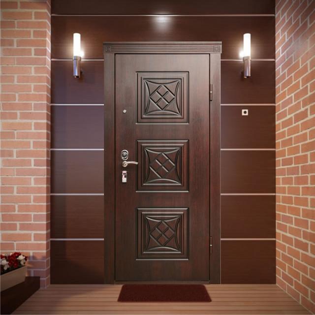 входная металлическая дверь в интерьере