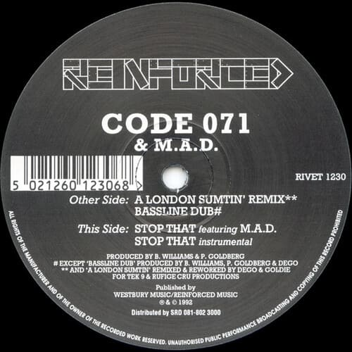 Code 071 & M.A.D. - A London Sumtin Remix / Bassline Dub / Stop That