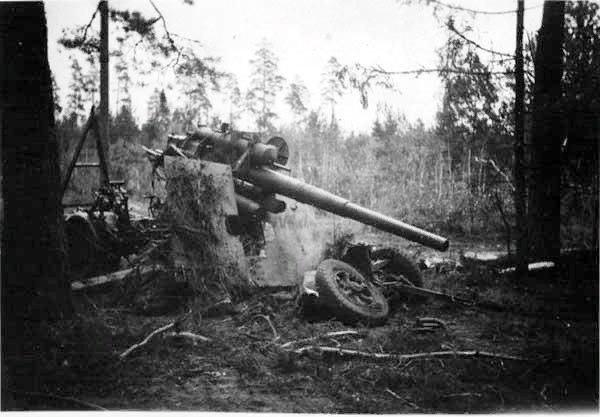 Destroyed german heavy anti-aircraft gun