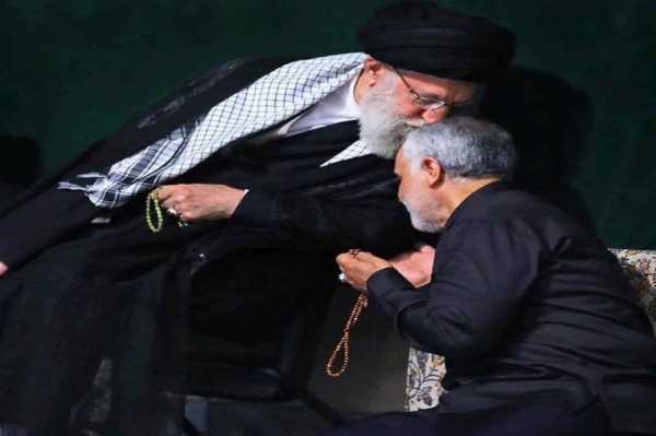 Духовный лидер Ирана аятолла Али Хаменеи и командующий экспедиционными силами КСИР, убитый в 2 января в багдаде Касем Сулеймани