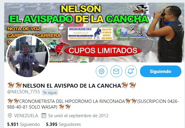 HIPISMO »» INFORMACION EXCLUSIVAMENTE PARA LOS DIASSABADO Y DOMINGO PARA EL HIPODROMO LA RINCONADA  El-lider