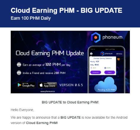 Oportunidade [Provado] Phoneum | Earn Tokens | Android/iOS | Gaming | Free Cloud Mining (Actualizado em Outubro de 2019) Bigupp