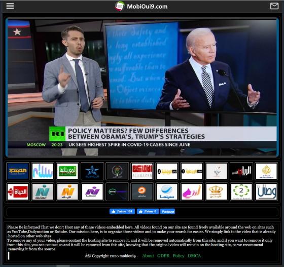 موقع mobioui9 يقدم لك خدمة مشاهدة التلفزيون المباشر مجانا على
