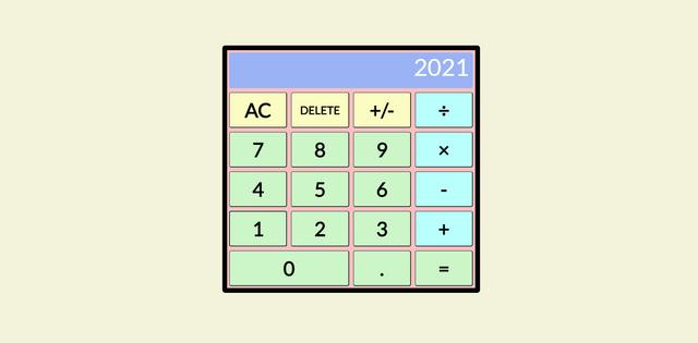 Simple calculator screen shot