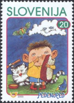 Slovenia stamps CHILD-S-BOOK-FIGURE-PEDENJPED