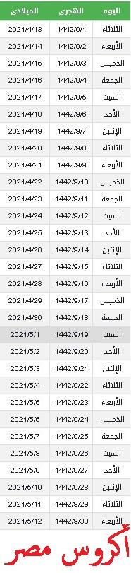 موعد شهر رمضان 2021-1442 مواعيد الإفطار والسحور والصلاة تنزيل تحميل إمساكية  رؤية هلال شهر رمضان ٢٠٢١ بالسعودية الجزائر وتونس والمغرب وسوريا والعراق  وليبيا متى ينتهي شهر شعبان