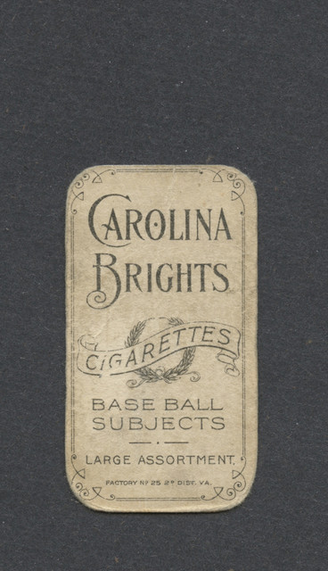 1909-11 T206 Hartsel Carolina Brights B.jpg