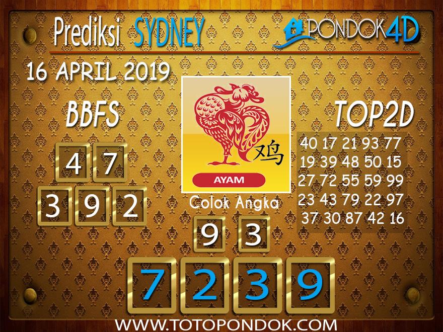 Prediksi Togel SYDNEY PONDOK4D 16 APRIL 2019