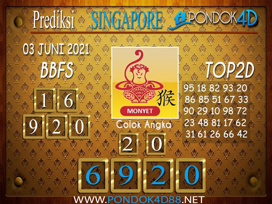 Prediksi Togel SINGAPORE PONDOK4D 03 JUNI 2021