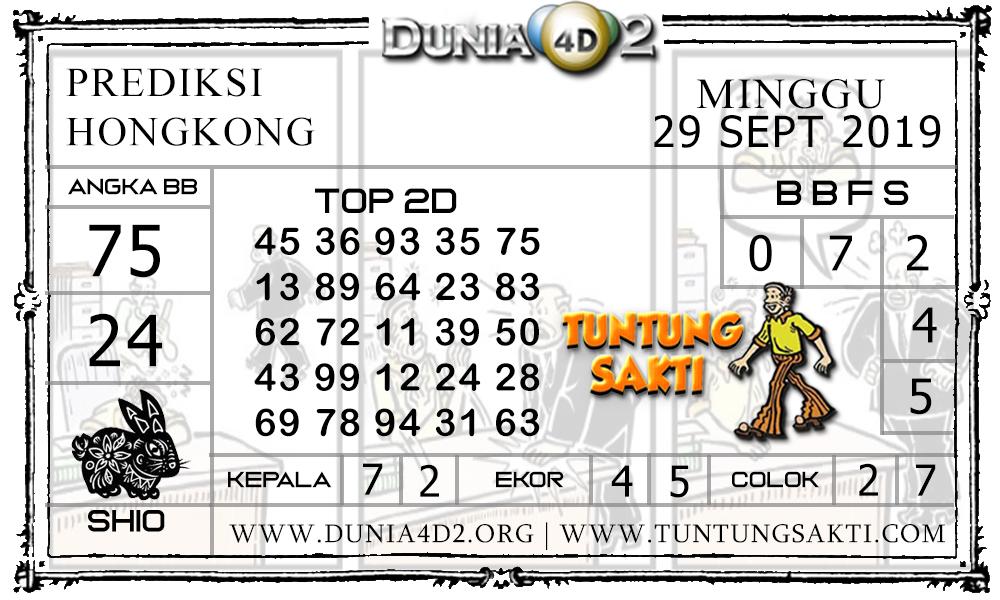 "Prediksi Togel ""HONGKONG"" DUNIA4D2 29 SEPTEMBER 2019"