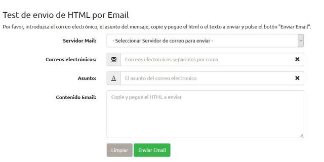 Como mandar correos con formato plantilla?