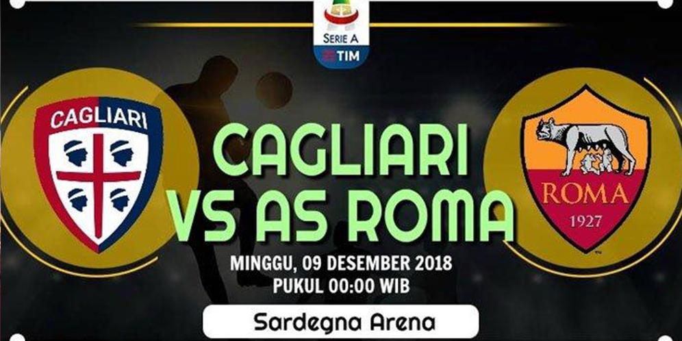 Cagliari VS Roma 2-2 Hasil Liga Italia - Cuplikan Gol
