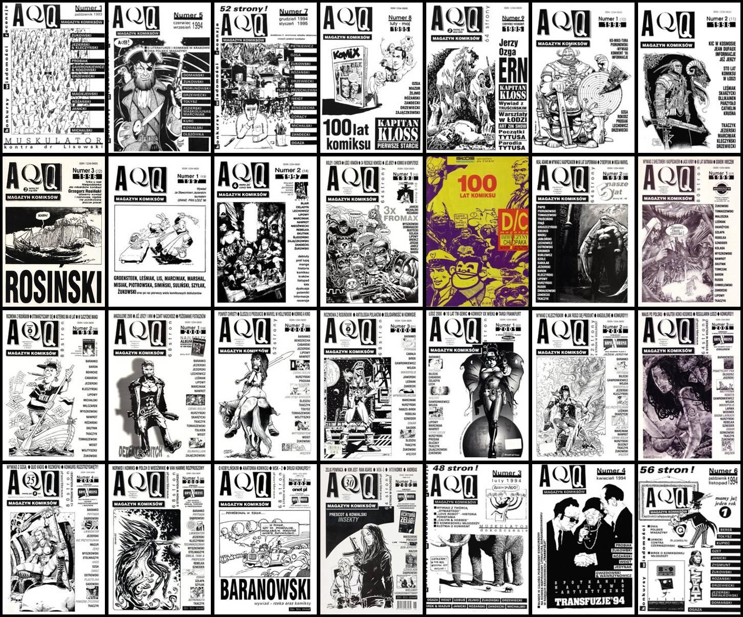 AQQ Magazyn Komiksowy #1-31 + Dodatek 100 lat komiksu
